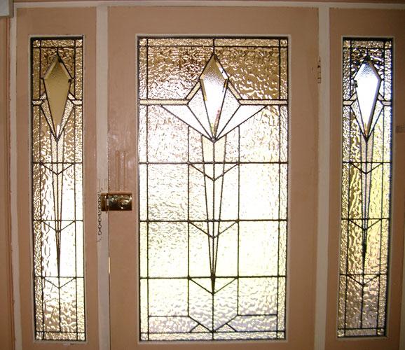 Art deco leadlight windows adelaide glass painters for Art deco glass windows
