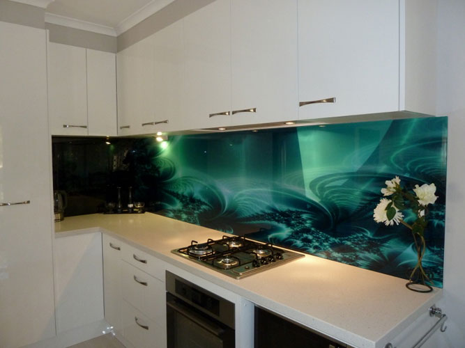 Kitchen bathroom glass splashbacks adelaide glass painters Kitchen profile glass design